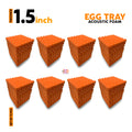 Egg Tray Acoustic Foam Panel, MMT Orange, Set of 72 pcs