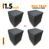 Egg Tray Acoustic Foam 1x1 Ft | Set Of 36 Pcs | Colours Available
