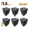 Egg Tray Acoustic Foam Panel, Pro Charcoal, Set of 54 pcs