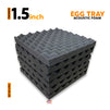 Egg Tray Acoustic Foam Panels, Pro Charcoal, Set of 6 Pcs