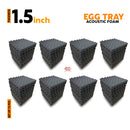 Egg Tray Acoustic Foam Panel, Pro Charcoal, Set of 72 pcs
