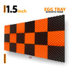 Egg Tray Acoustic Foam Panel | Set of 18 pcs | Black + Orange