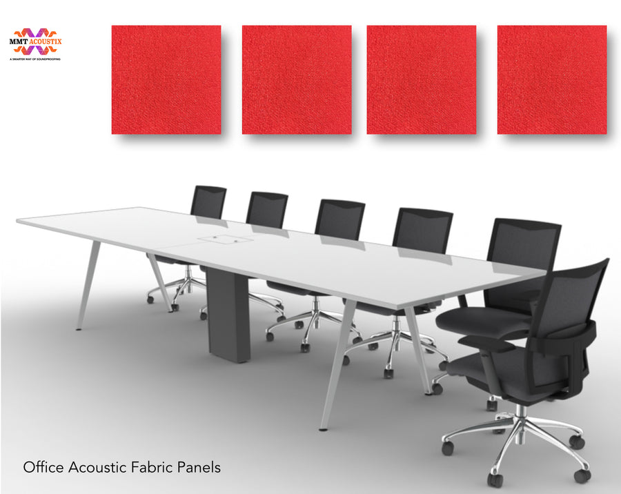 "FabAxe Fabric Acoustic Panel 2'x2'x1"", (Flame Red)"