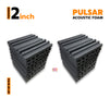 Pulsar Acoustic Foam Panel, Pro Charcoal, Set of 18 pcs