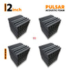 Pulsar Acoustic Foam Panel, Pro Charcoal, Set of 36 pcs