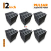 Pulsar Acoustic Foam Panel, Pro Charcoal, Set of 54 pcs