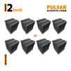 Pulsar Acoustic Foam Panel, Pro Charcoal, Set of 72 pcs