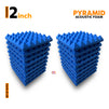 Pyramid Acoustic Foam Panel, European Blue, Set of 18 pcs