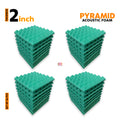 Pyramid Acoustic Foam Panel, Studio Green, Set of 36 pcs