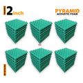 Pyramid Acoustic Foam Panel, Studio Green, Set of 54 pcs