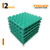 Pyramid Acoustic Foam Panel, Studio Green, Set of 6 pcs