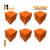 "Pyramid Acoustic Foam Panel, MMT Orange, 1"" Set of 54 pcs"