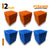 Pyramid Acoustic Foam Panel, (Orange + Blue), Set of 54 pcs