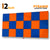 Pyramid Acoustic Foam Panel, (Orange + Blue), Set of 18 pcs