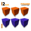 Pyramid Acoustic Foam Panel, (Orange + Purple), Set of 54 pcs