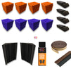 Basic Acoustic Set, 10'x10' Room ( Pyramid , Purple + Orange )