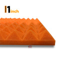 "Pyramid Acoustic Foam Panel, (Black + Orange), 1"" Set of 54 pcs"