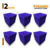 Pyramid Acoustic Foam Panel, Studio Purple, Set of 54 pcs