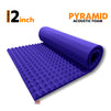 Pyramid Acoustic Foam Panel, Studio Purple, 6'x3'
