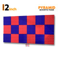 Pyramid Acoustic Foam Panel, (Purple + Red), Set of 18 pcs