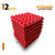Pyramid Acoustic Foam Panel, Flame Red, Set of 9 pcs