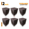 Pyramid Acoustic Foam Panel, Wine, Set of 54 pcs