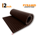 Pyramid Acoustic Foam Panel, Wine, 6'x3'