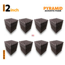Pyramid Acoustic Foam Panel Wine color Set of 72 Pcs.