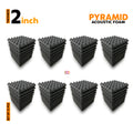 Pyramid Acoustic Foam Panel, Pro Charcoal, Set of 72 pcs