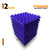 Pyramid Acoustic Foam Panel, Studio Purple, Set of 9 pcs