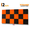 Pyramid Acoustic Foam 1x1 Ft | Set of 18 pcs | Colours Available