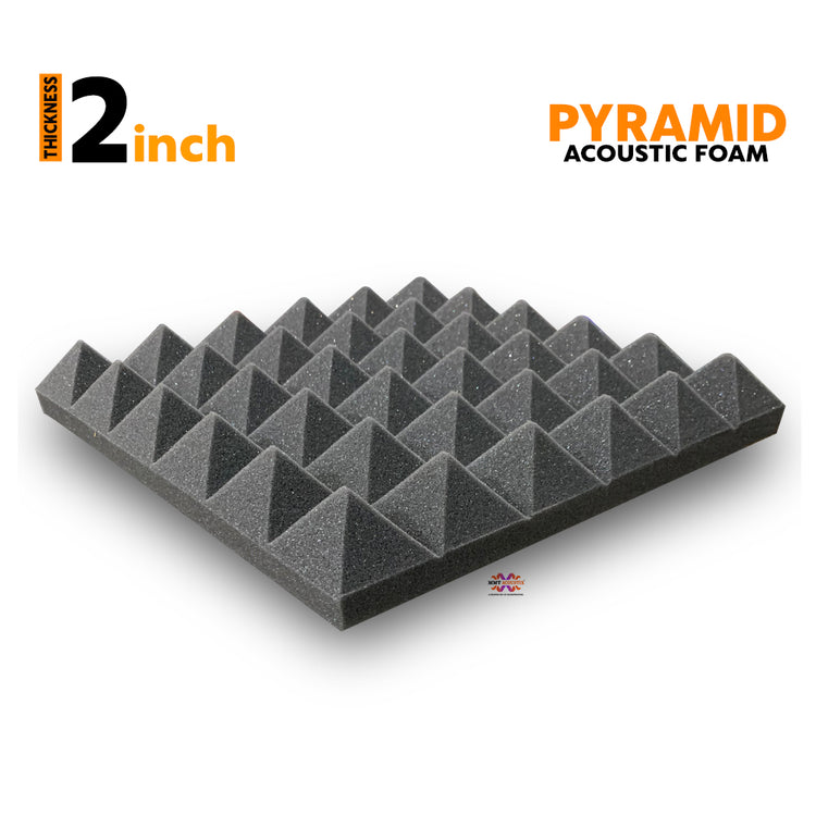 Pyramid Acoustic Foam Panel, Pro Charcoal, 1 pc