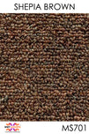 Acoustic Carpet Tiles - Shepia Brown