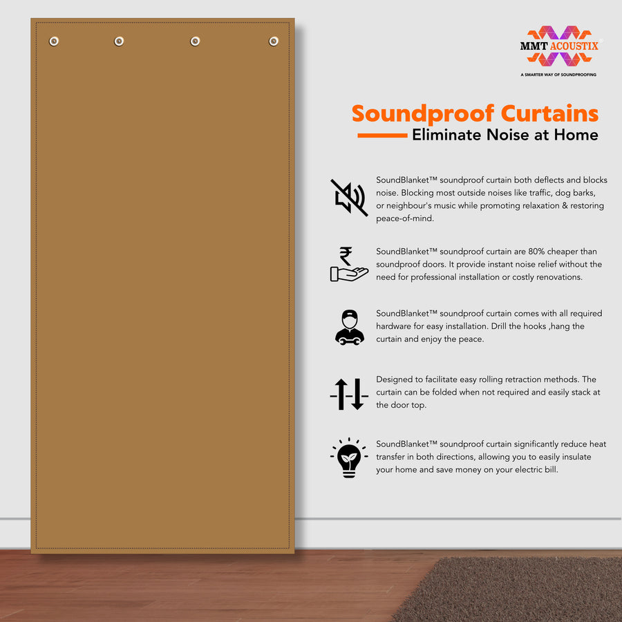 SoundBlanket Soundproof Door Curtains | 8x4 Feet