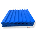 T - Wedge Acoustic Foam Panel, European Blue, 2'x2' Set of 3 pcs