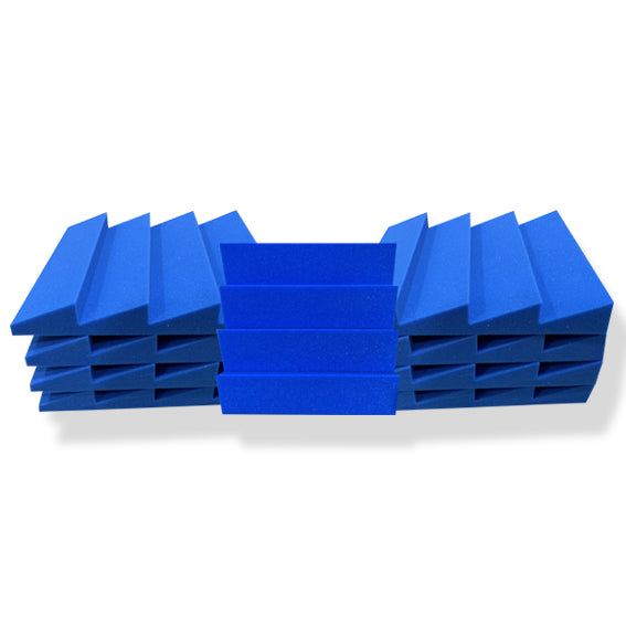 T - Wedge Acoustic Foam Panel, European Blue, Set of 9 pcs