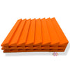 T - Wedge Acoustic Foam Panel, MMT Orange, 2'x2' Set of 3 pcs