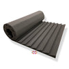 T - Wedge Acoustic Foam Panel, Pro Charcoal, 6'x3'