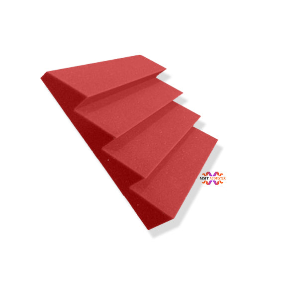 T - Wedge Acoustic Foam Panel, Flame Red, 1 pc