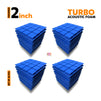 Turbo Acoustic Foam Panel, European Blue, Set of 36 pcs