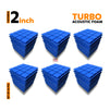 Turbo Acoustic Foam Panel, European Blue, Set of 54 pcs