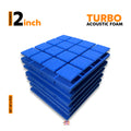 Turbo Acoustic Foam Panel, European Blue, Set of 6 pcs