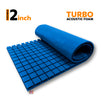 Turbo Acoustic Foam Panel, European Blue, 6'x3'