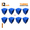 Turbo Acoustic Foam Panel, European Blue, Set of 72 pcs