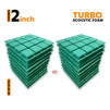 Turbo Acoustic Foam Panel, Studio Green, Set of 18 pcs