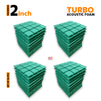 Turbo Acoustic Foam Panel, Studio Green, Set of 36 pcs