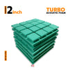 Turbo Acoustic Foam Panel, Studio Green, Set of 6 pcs