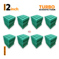 Turbo Acoustic Foam Panel, Studio Green, Set of 72 pcs