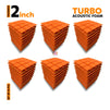Turbo Acoustic Foam Panel, MMT Orange, Set of 54 pcs
