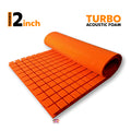 Turbo Acoustic Foam Panel, MMT Orange, 6'x3'